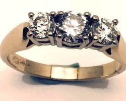 Ladies diamond trinity ring